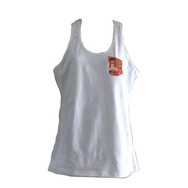 White singlet for women